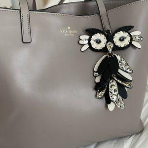 kate spade Bags - Kate Spade Owl Little Len Tote Star Bright Grey